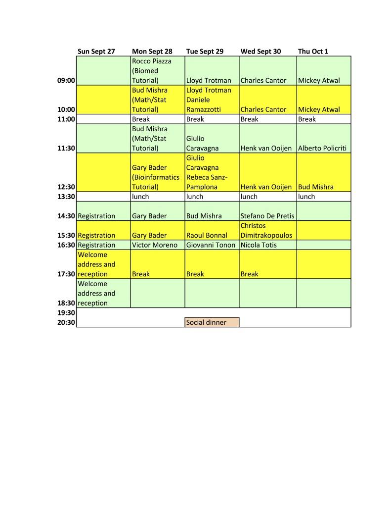 20150929 Schedule